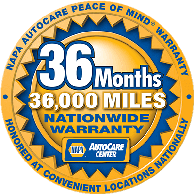 NAPA Autocare Peace of Mind Warranty