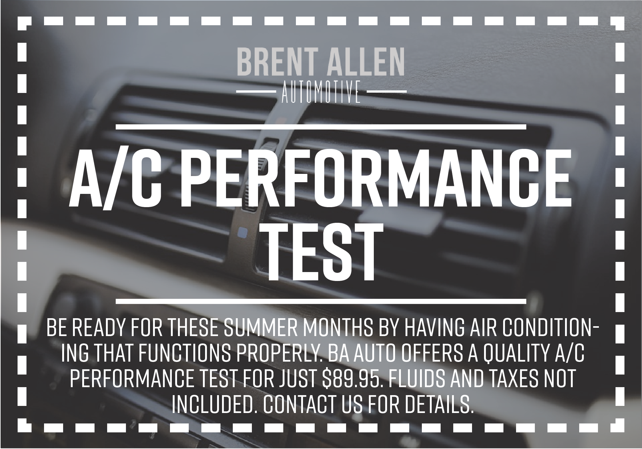 A/C Performance Test Coupon