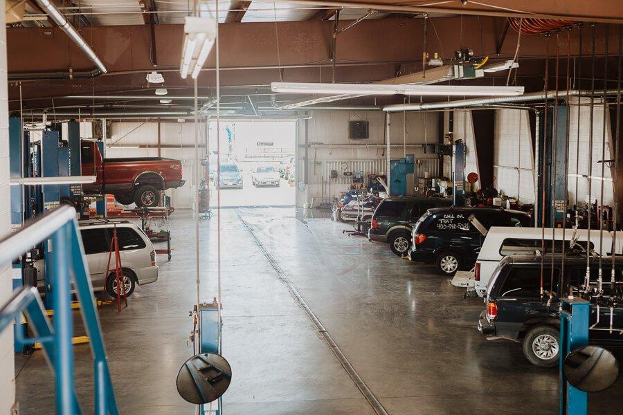 Inside of Brent Allen Automotive Repair Shop in North Logan Utah